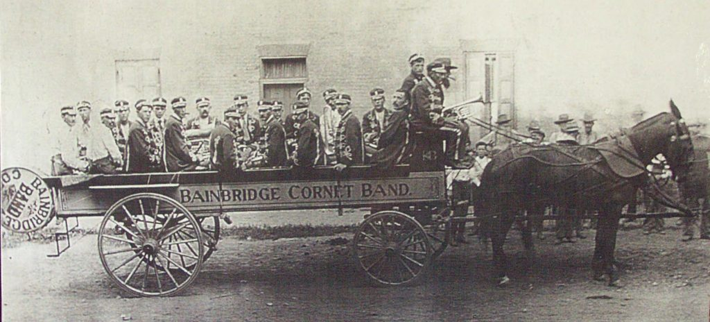 Bainbridge Cornet Band Photo taken about 1900-1906